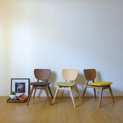 FIT L 斐特餐椅-皮革版(胡桃色) / FIT L Chair