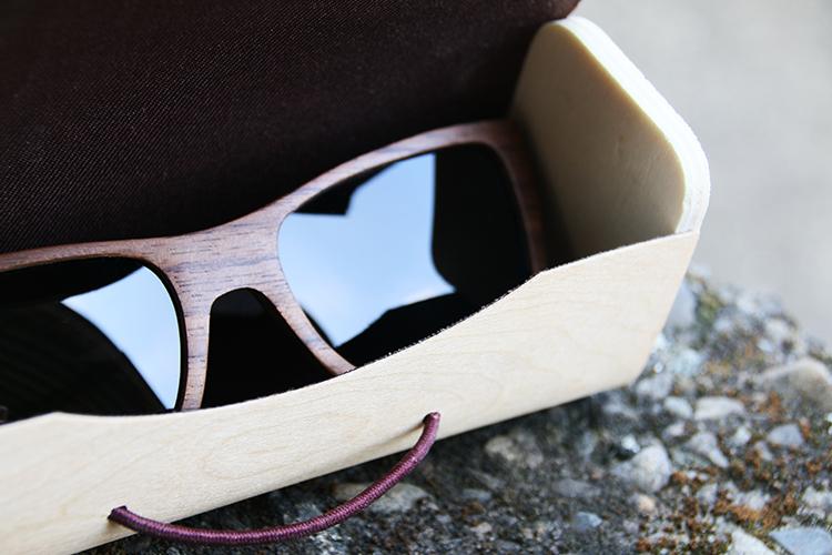 四目偏光實木太陽眼鏡 / Four-head wood polarize