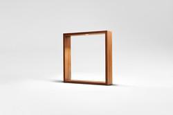 Square LED wood table lamp AG006