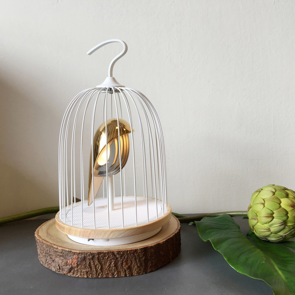 Jingo 無線音響燈-白金鳥