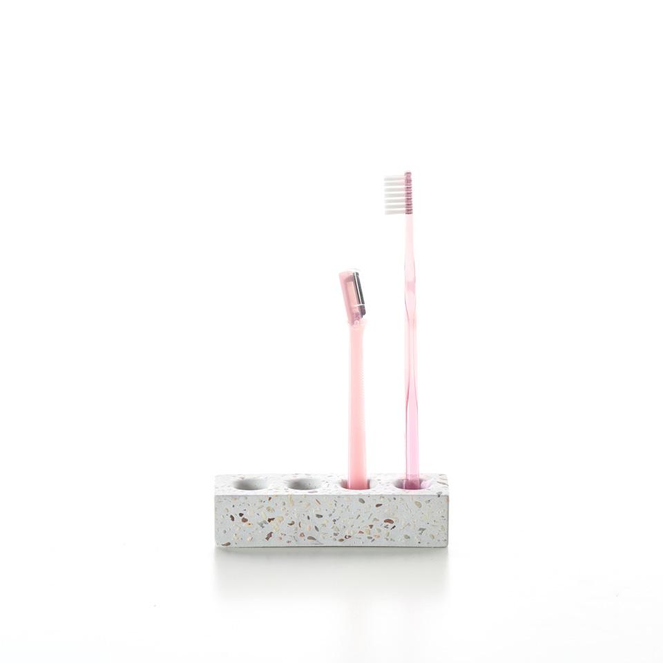 磨石子牙刷架 / Terrazzo Toothbrush Stand