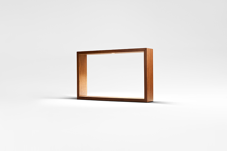 Square LED wood table lamp AG005