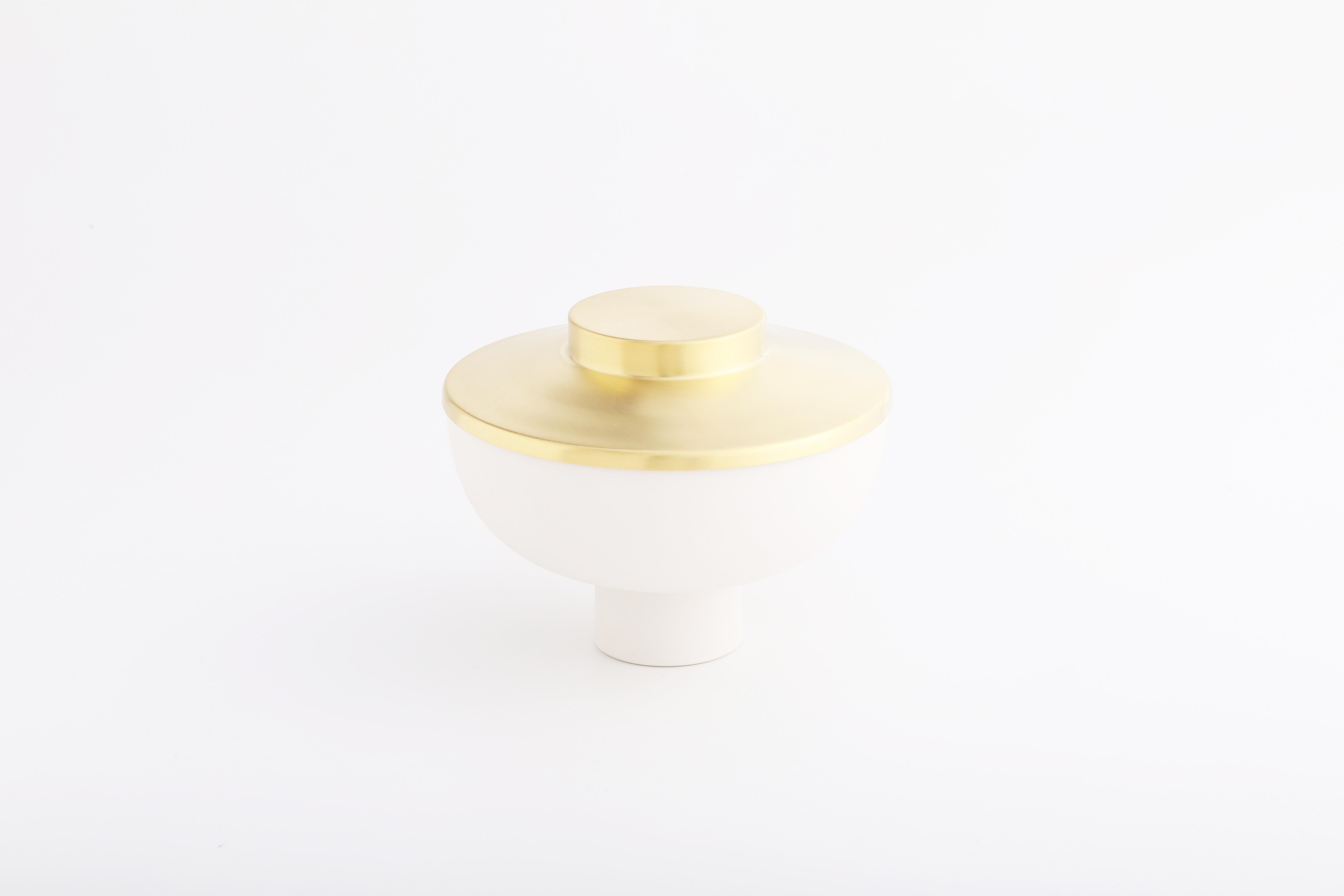 Set 1 (白瓷黃銅款 / White,Brass)