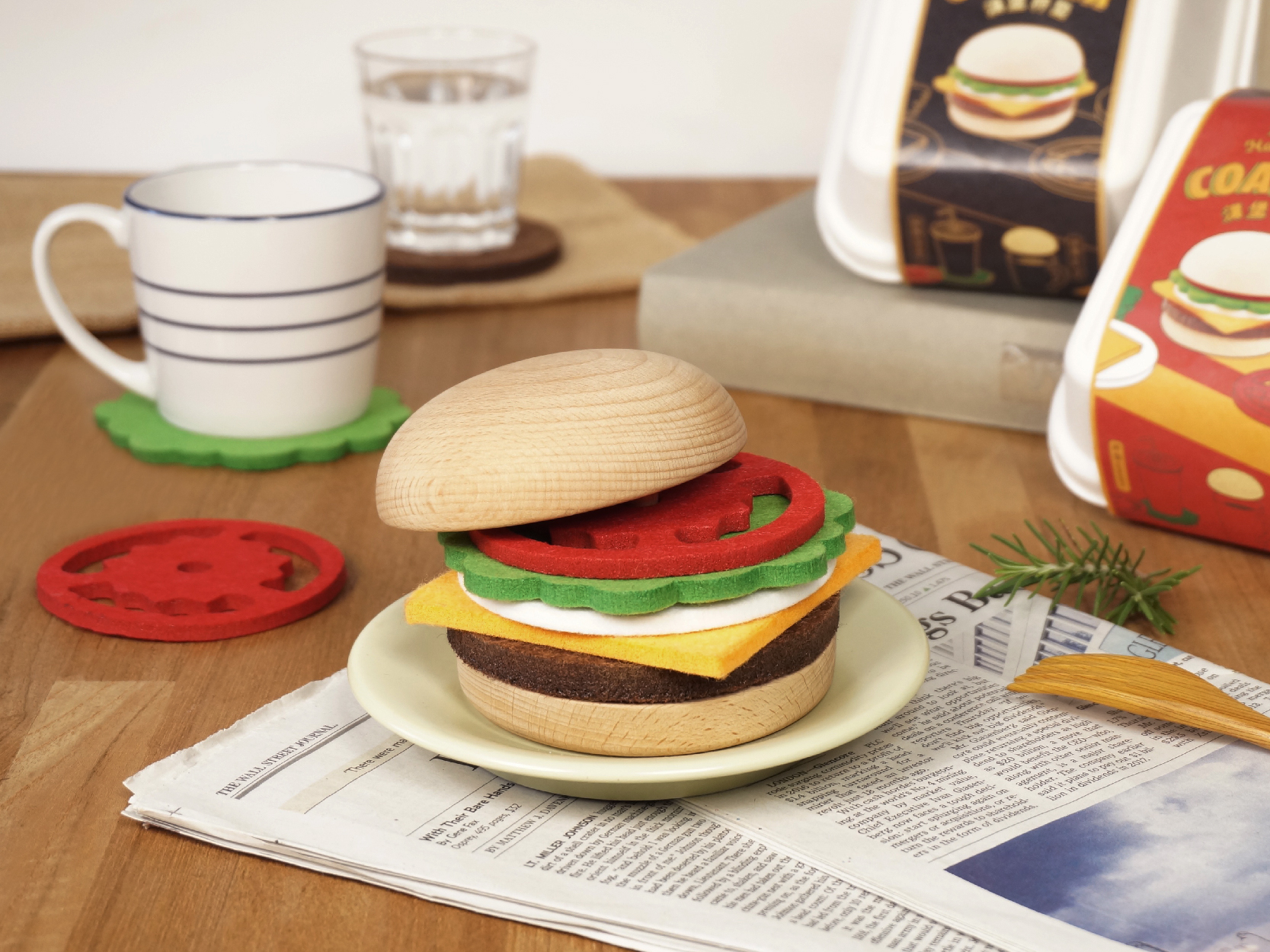 漢堡杯墊 / Hamburger Coaster