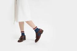 因紐特鼓舞3/4襪 海豹皮/Aya-ya 3/4 socks qisik
