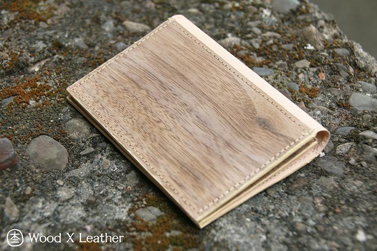 木皮革零錢包