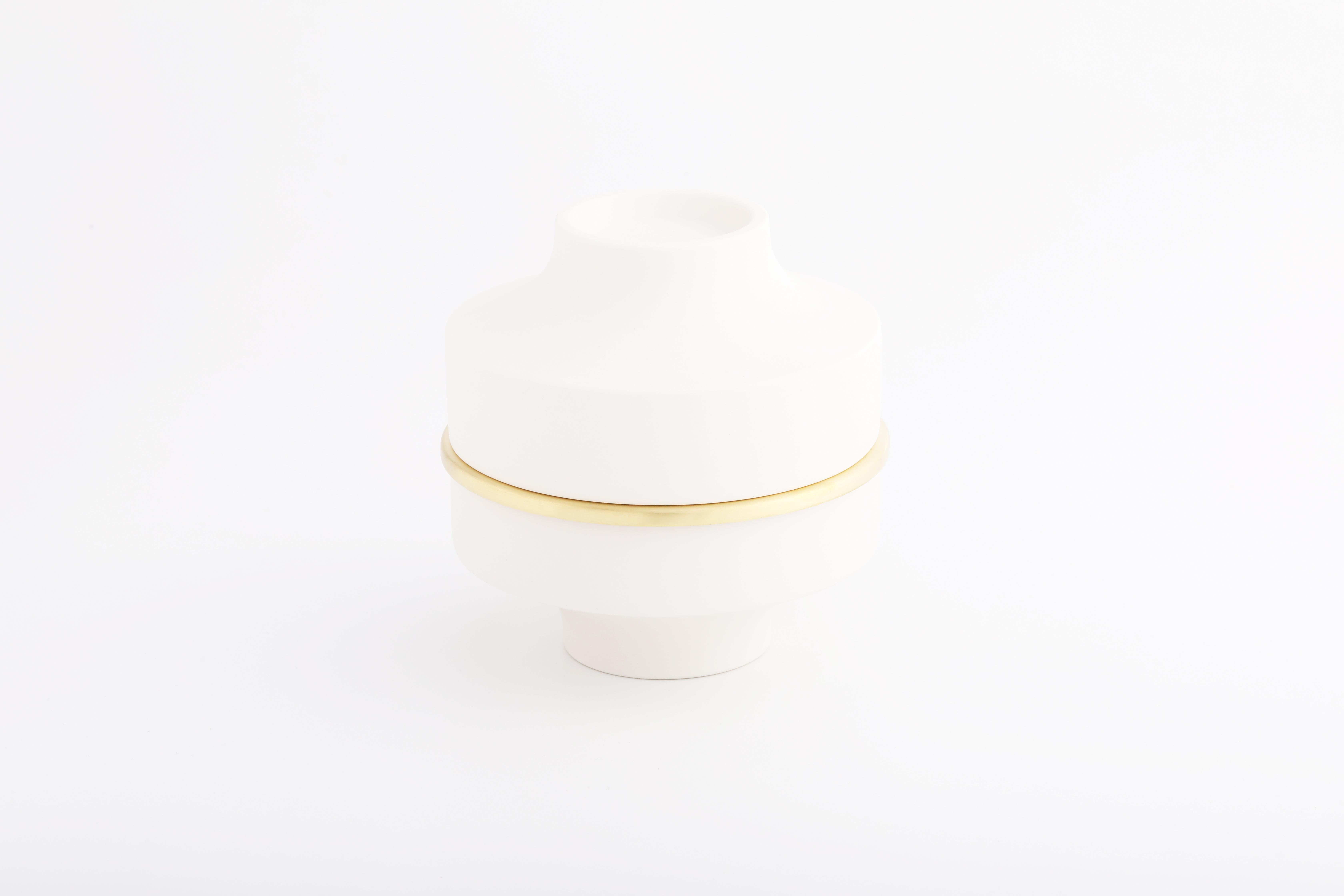 白瓷黃銅雙層款01 / White, Brass double 01