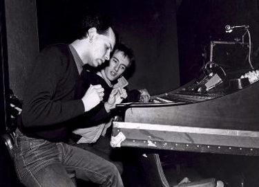Alan Wild with Gary Numan plotting the lights in Toronto for the first North American Tour.