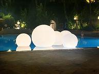 Sfere luminose d'arredo lighting spheres for event