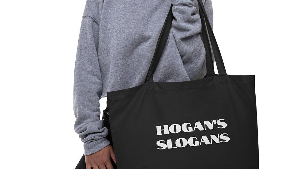 organic slogan tote bag
