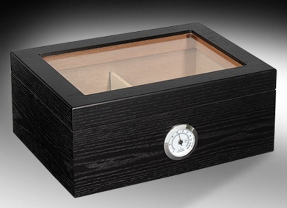 Oxford Glass Top 60 Count Humidor