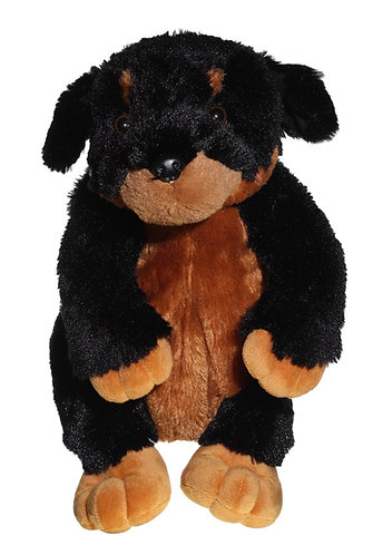 "16"" Super Soft and Fun Rottweiler Backpack"