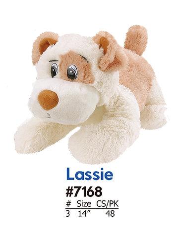 Lassie Laying Soft & Cuddly Plush Dog Crane & Carnival | Calplush