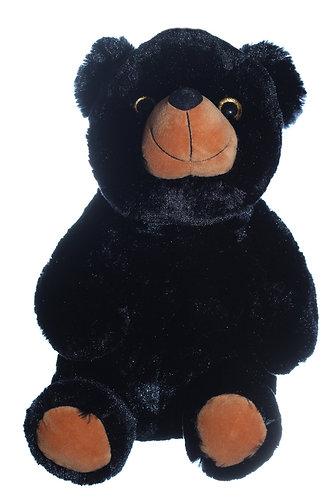 Cute & Cuddly Fuzzy Black Bear | Calplush Crane & Carnival Plush