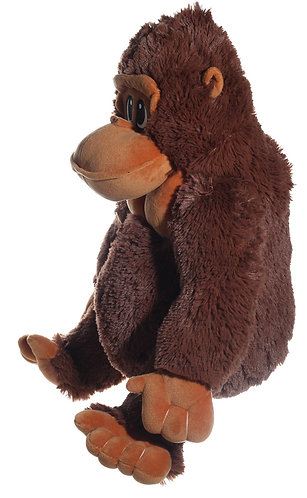 Tito Natural Colored Gorilla in Black & Brown | Calplush