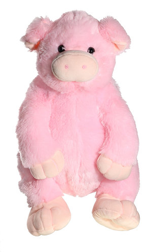 "16"" Super Soft and Fun Pig Backpack"