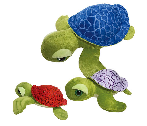 Tortola Blue, Light Purple, & Red Sea Turtles | Calplush
