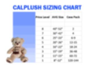 Calplush Sizing Chart