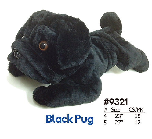 Black Pug Stuffed Animal Plush | Calplush Crane & Carnival