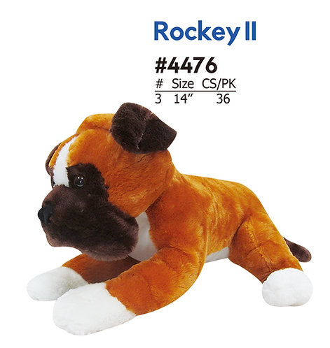 Rocky II Brown and White Bulldog | Calplush