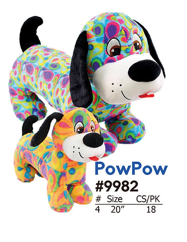 PowPow Wiener Brightly Colored Dog | Calplush