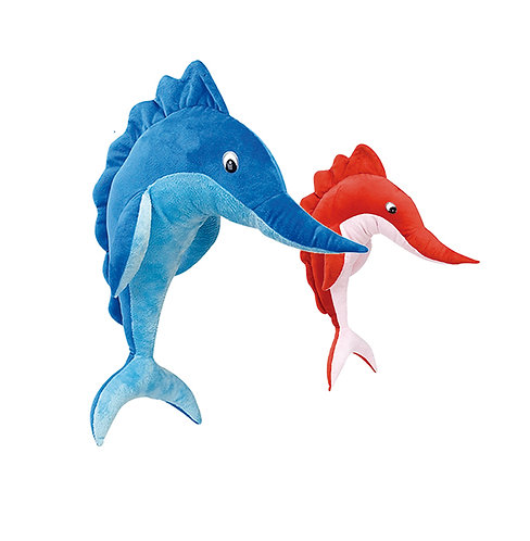 Sharp Sword Fish Red & Blue | Calplush
