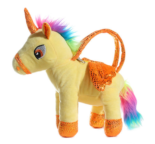 "10"" Wholesale Unicorn Plush Handbag"
