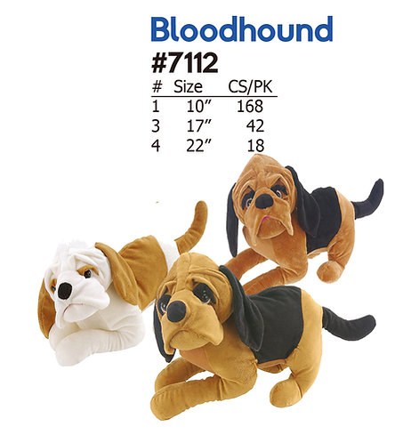 Bloodhound 3 Style Plush Dogs | Calplush Crane & Carnival