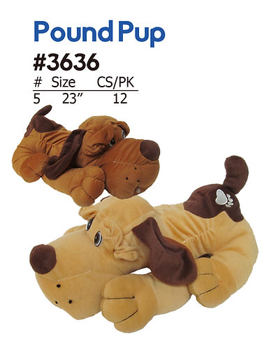 Pound Pup Plush Stuffed Dog | Calplush Crane & Carnival