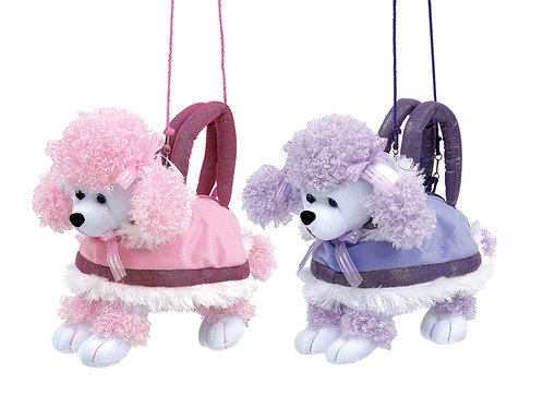 "12"" 1 Piece Poodle Purse 