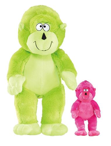 Monkey Around Pink & Green Plush | Calplush