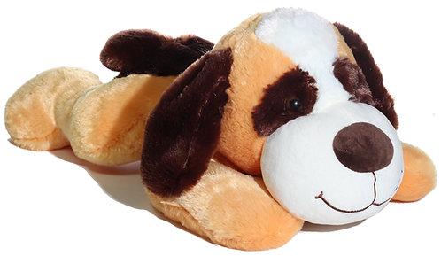 Pupper Laying Saint Bernard Plush Dog 2 Styles Asst