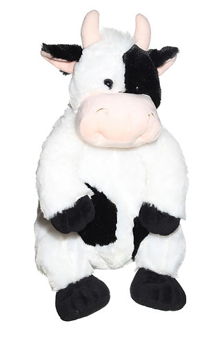 """16"""" Super Soft and Fun Cow Backpack"""