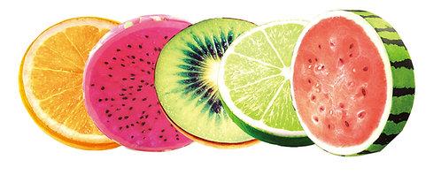 Dragonfruit, Lime, Watermelon, Kiwi, Orange Cushions
