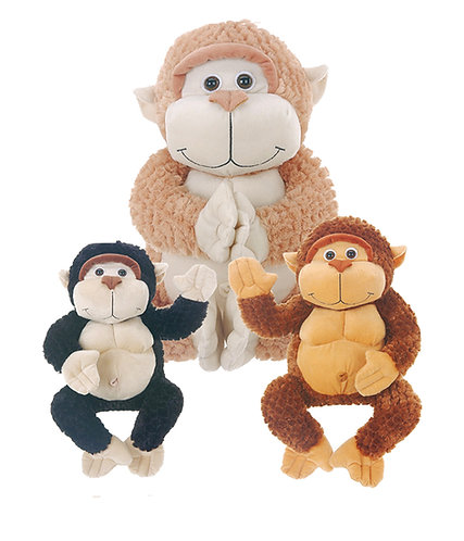 Chump Black & Brown Monkey Plush | Calplush