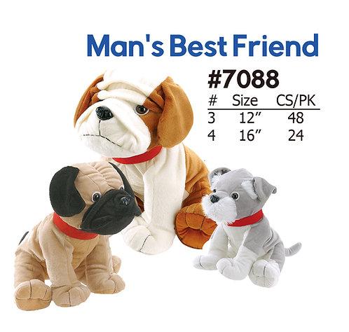 Man's Best Friend 3 Style Plush Dogs   Calplush Carnival & Crane
