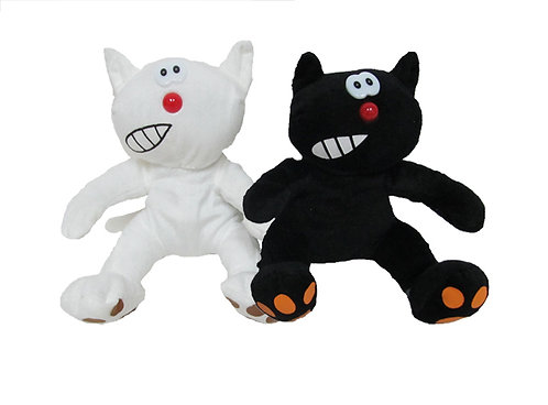 Black & White Halloween Cats | Calplush