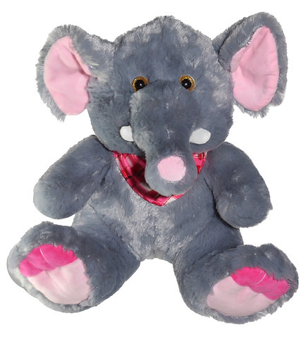 Jumbles the Elephant Fuzzy Plush w/ Red Scarf | Calplush