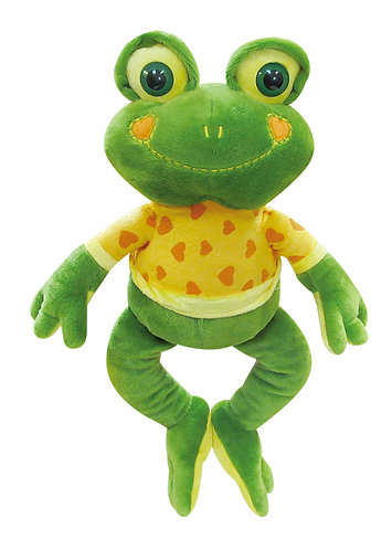 Charles Frog with Heart Smile & T-shirt | Calplush