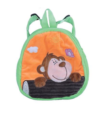 "10"" 1 Piece Animal Backpack Monkey,Giraffe, Bear, Lion, Lamb, Hippo"