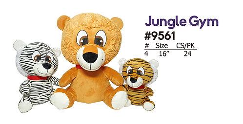 Jungle Gym Lion, Tiger, and White Tiger Cartoon Plush | Calplush