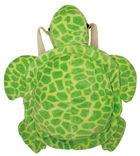 """16"""" Super Soft and Fun Turtle Backpack"""