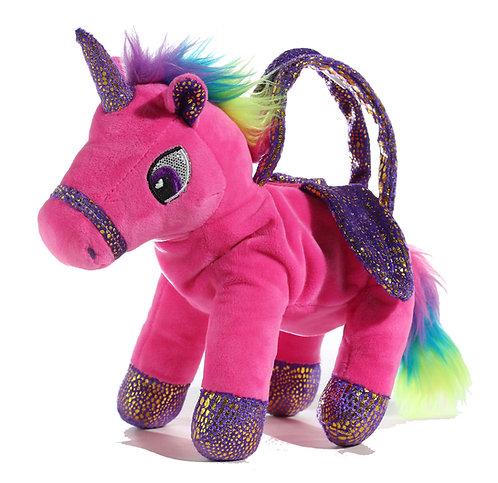 "10"" Wholesale Unicorn Plush Purse"