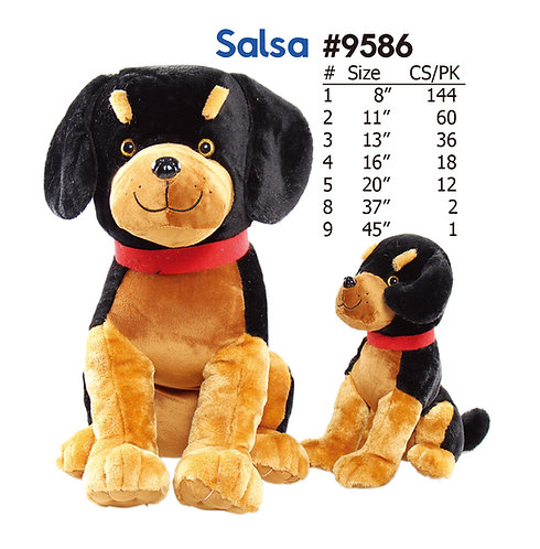 Salsa Plush Stuffed Animal Dog | Calplush Crane & Carnival