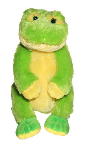 "16"" Super Soft and Fun Frog Backpack"