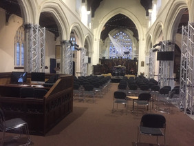 Church electrical alterations