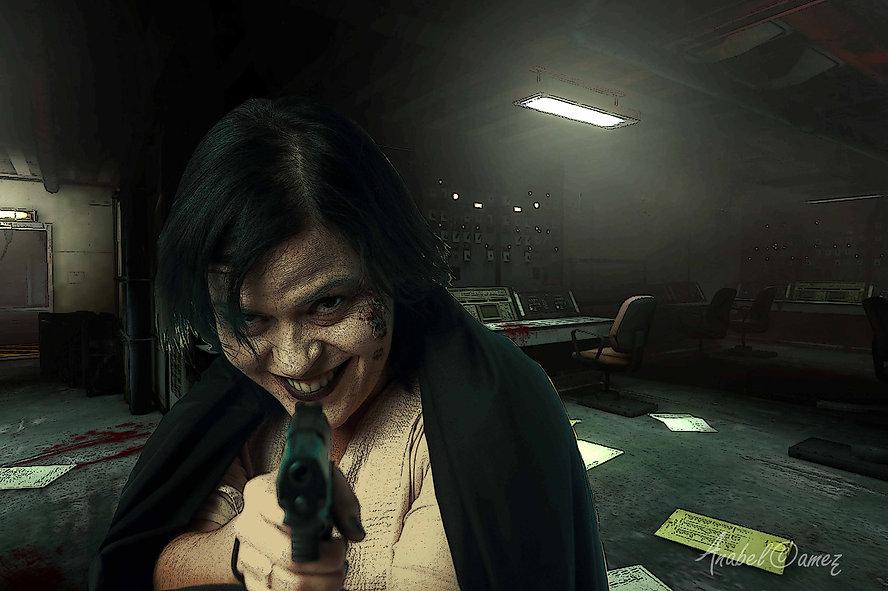Montaje fotográfico. Escenario de Resident Evil