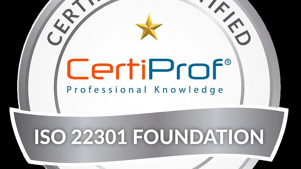 Examen de certificación ISO 22301 Fundamentos Avalado por CertiProf