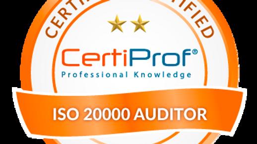 Examen de certificación ISO 20000 Auditor Avalado por CertiProf