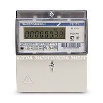 Счетчик электроэнергии однофазный однотарифный CE 101 R5.1 145 60/5 Т1 D 220В ЖКИ (CE101 R5.1 145) - Электросчетчик Саратов